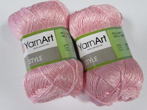 YarnArt stile  - 660 - розовый 50г/185м