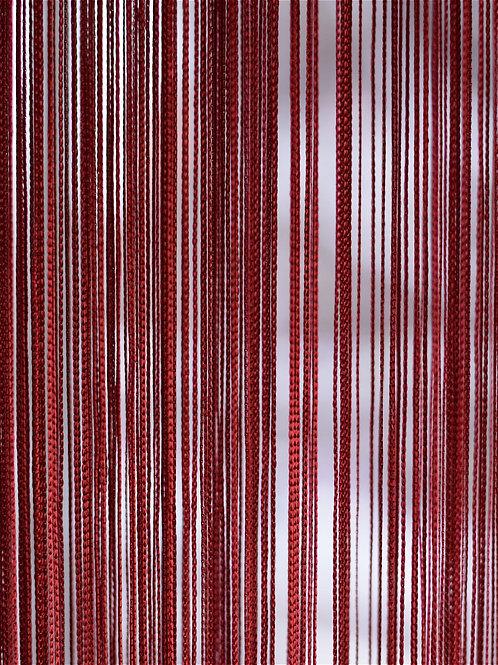 Нитяная штора (кисея) размер: 300х300 см  цвет: бордовый Турция