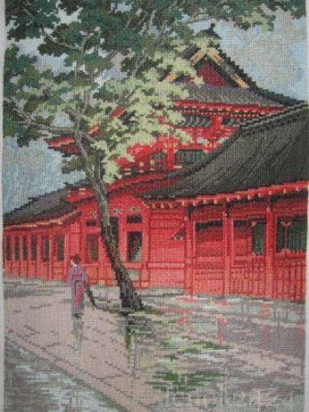 "Вышивка крестом ""Красная пагода"" Риолис. Размер работы: 26х38 см"