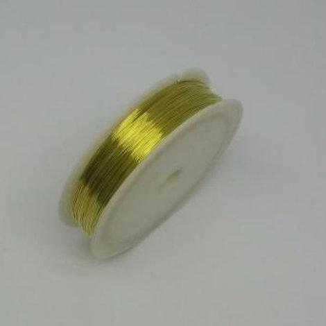 """Проволока для бисероплетения (медь), цвет: №01,D: 0,2 мм """"Гамма"""""""