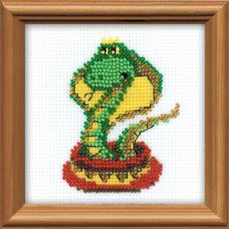 """Вышивка крестом """"Королева змей"""" 1289, размер работы: 10х10 см. Риолис"""