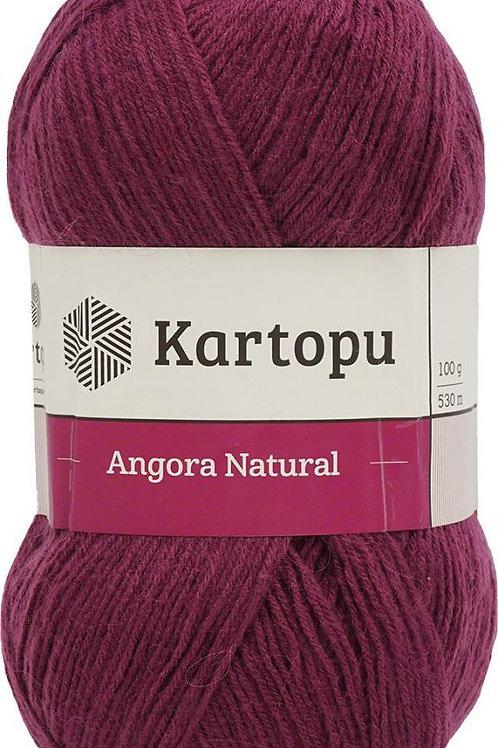Kartopu Angora Natural-1723-бордовый 100г/530м Турция