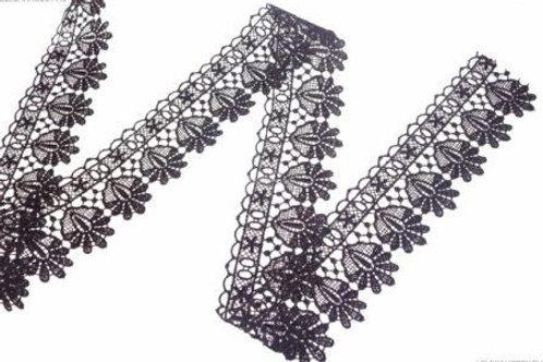Гипюр арт: 3320 ширина: 65 мм цвет: чёрный