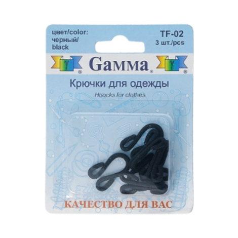 Крючки для одежды TF-02 Гамма 3 шт. цвет: чёрный