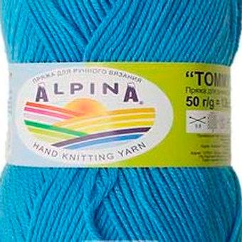 """Alpina """"Tommy"""" - 030 - яр. голубой 50г/138м"""