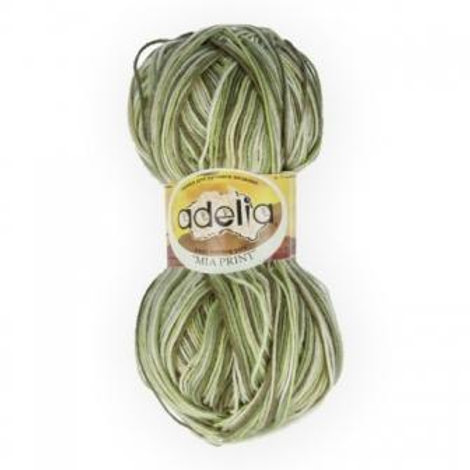 Adelia Mia print - 10 - зеленый, салатовый 100г/307м
