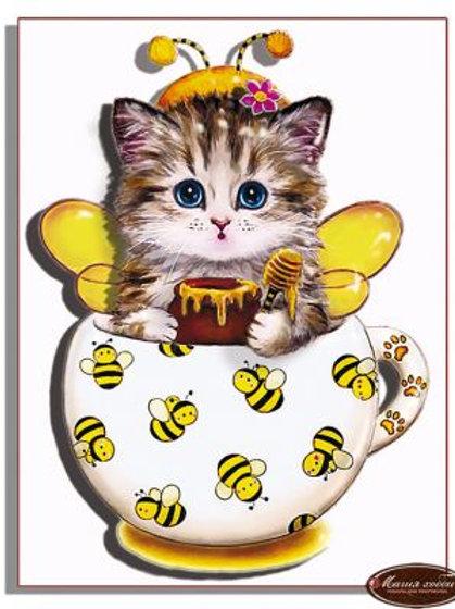 """Папертоль """"Коточашка - пчёлка"""""""