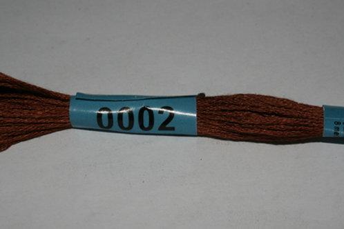 "Мулине ""Gamma"" №0002 коричневый х/б 8м"