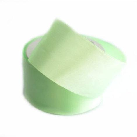 Атласная лента 50мм цвет: №056 ( бледный салатовый), Гамма