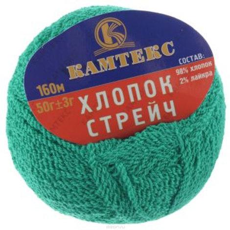 """Камтекс """"Хлопок стрейч"""" - зеленый 50г/160м"""