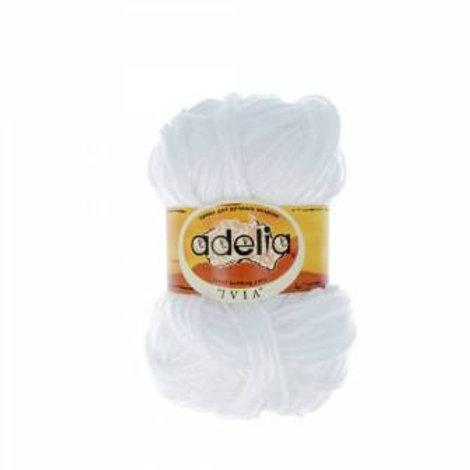 Adelia  Ivia -№001, 62,5г/150м, акрил 100%