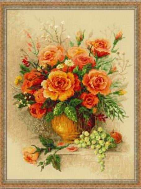 """Вышивка крестом """"Чайные розы"""", 100/049"""