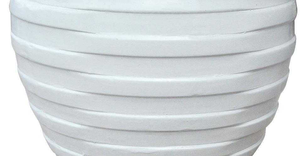 Techno White Flat Rim Round