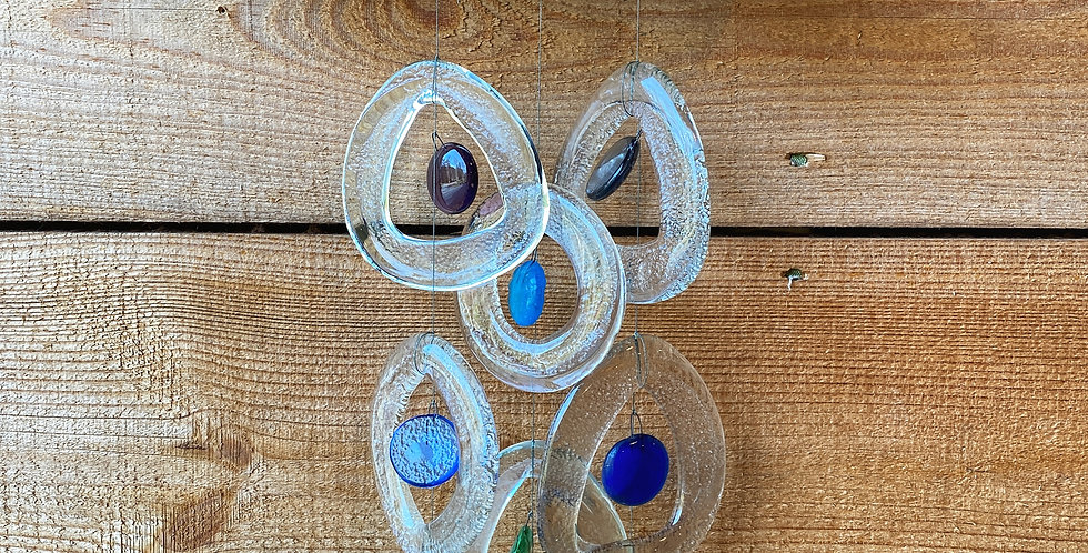 Sea Glass 3-Strand Chime