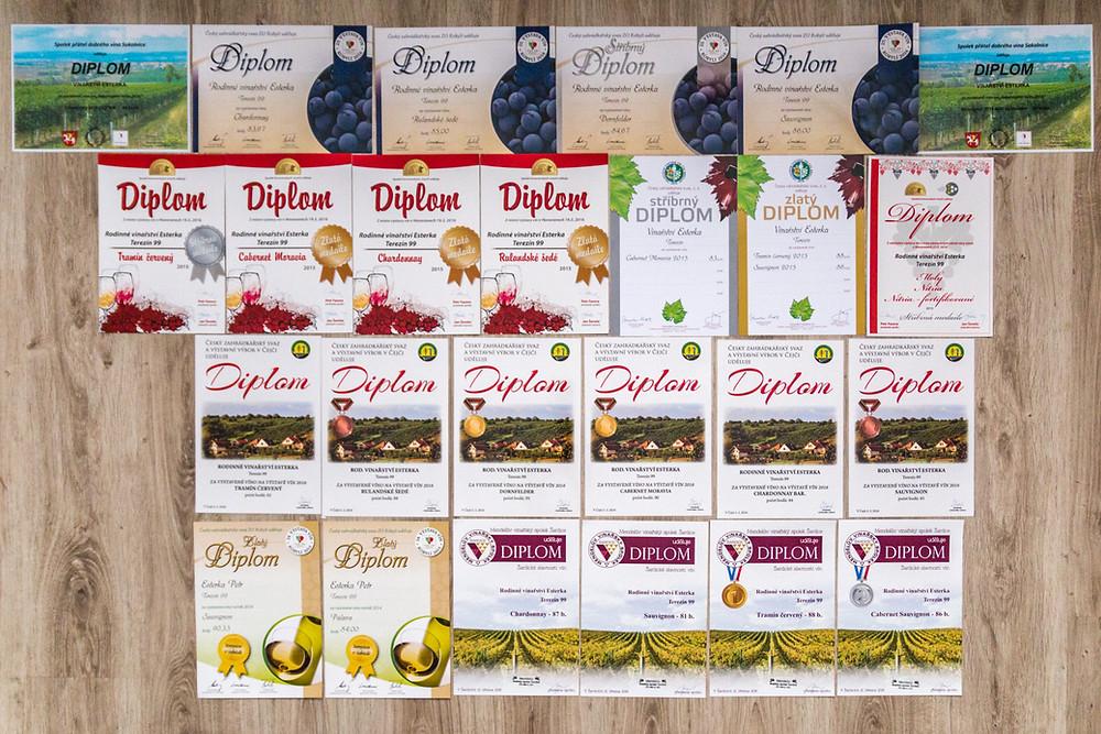Úspěchy Vinařství Esterka z Terezína