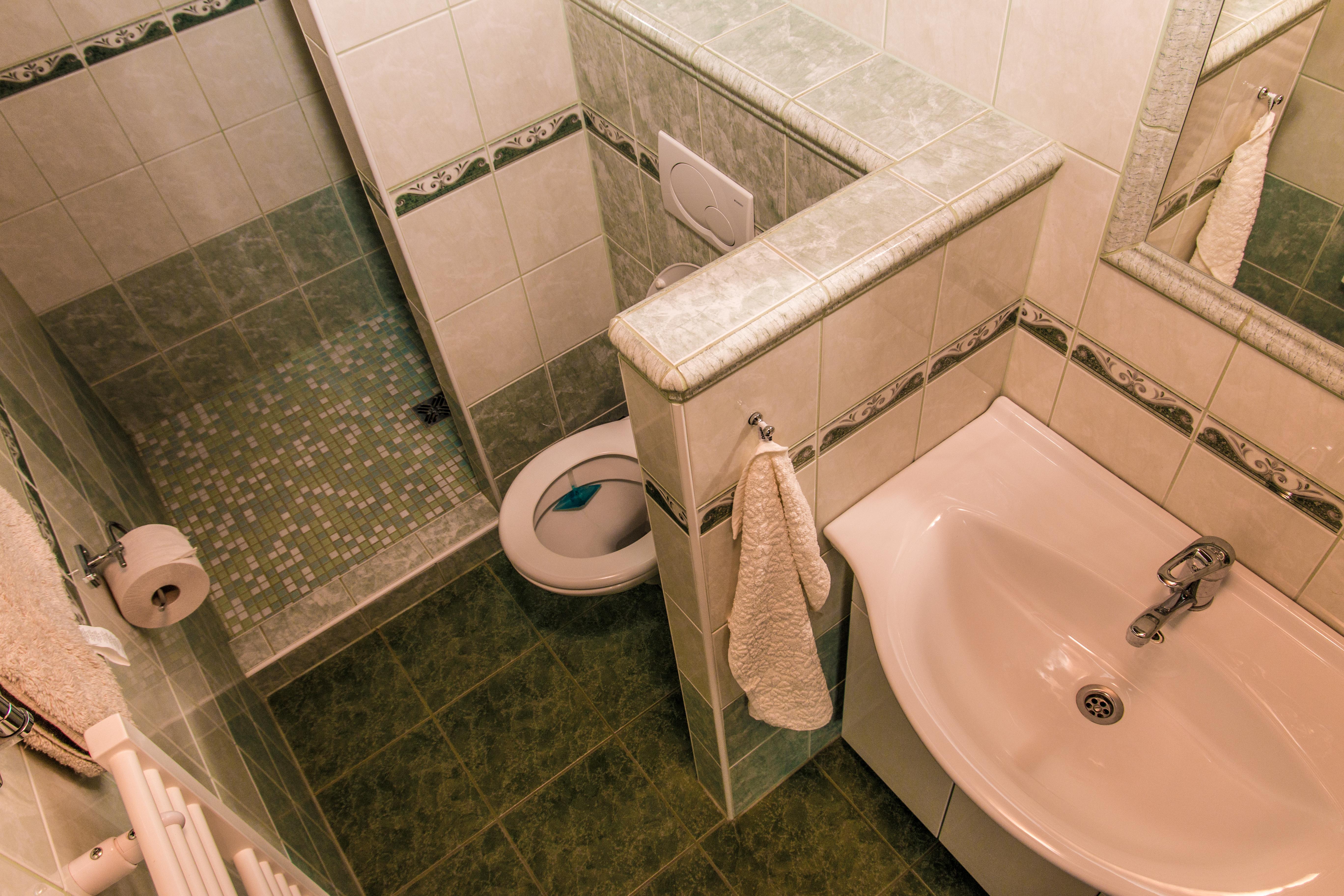 Koupelna v zeleném pokoji