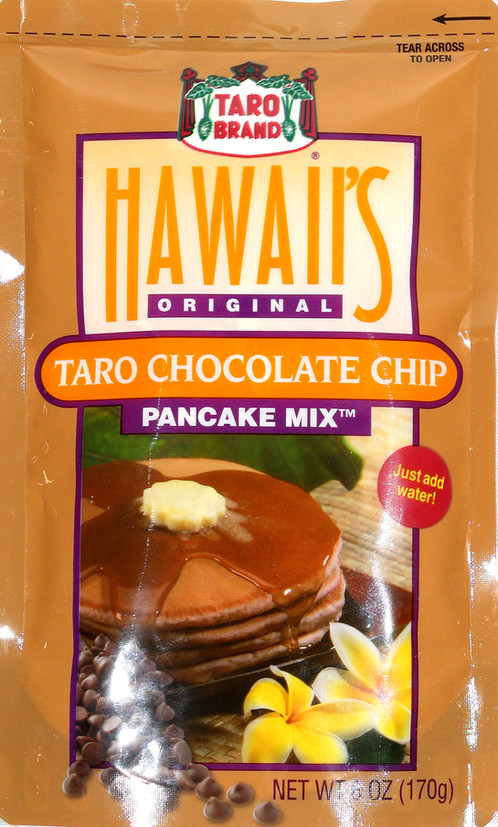 2 6oz taro chocolate chip pancake mix enjoy this delicious taro macadamia nut pancake mix in the morning or in other recipes so easy to make just add water ccuart
