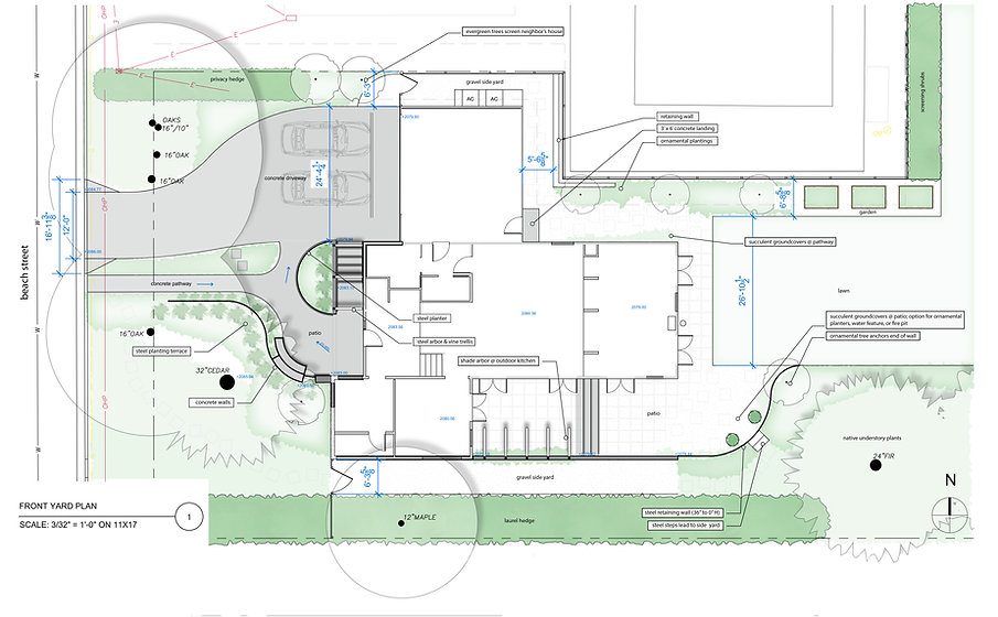 552 Beach Street residence project by Arkitek, is designed for a single-family dwelling in Ashland, Oregon along with a new garage space. The design follows a simple, minimalist and functional layout to resonate with the client's lifestyle yet ensuring the luxury of well-defined spaces and natural light.