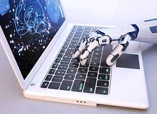 robots-hand-typing-on-keyboard-W8CUP4S (