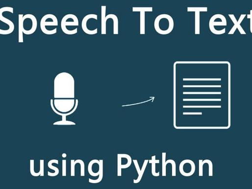 Speech to Text in Python