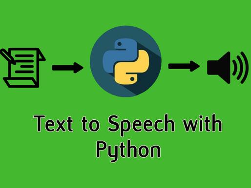 Text to Speech in Python