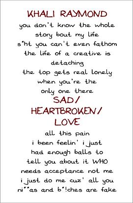 Sad/Heartbroken/Love