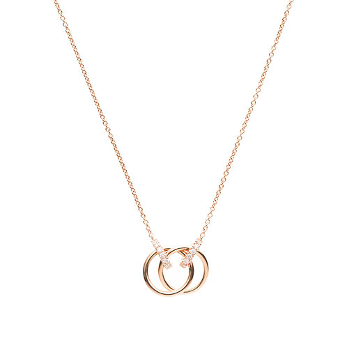 Twins Ring Necklace