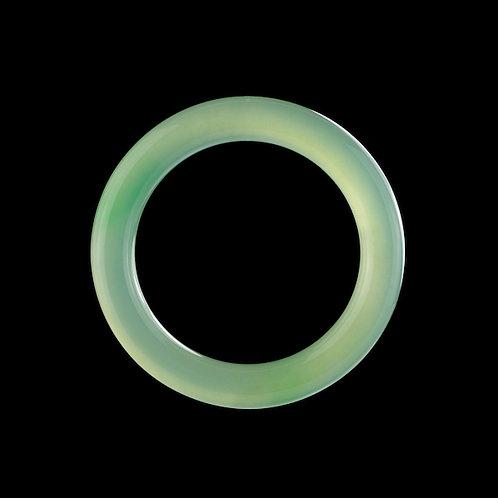 玻璃種青綠玉鐲《圓鐲》