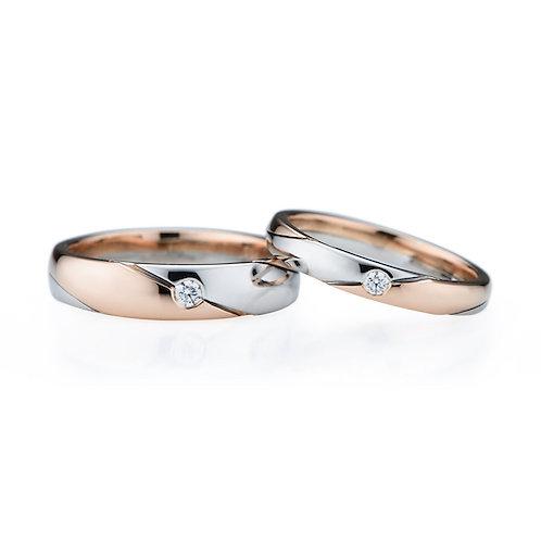 雙色結婚對戒