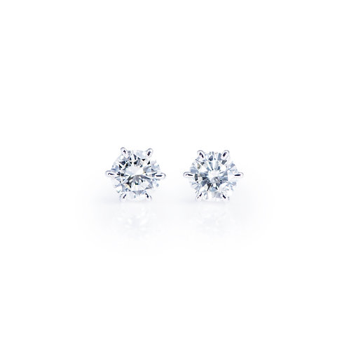 Prong Setting Solitaire Earrings