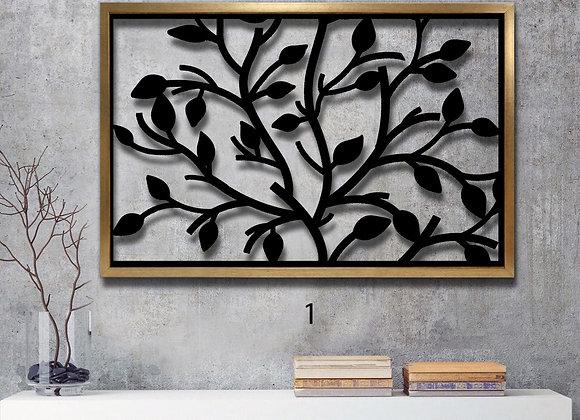 עץ עלים שחור