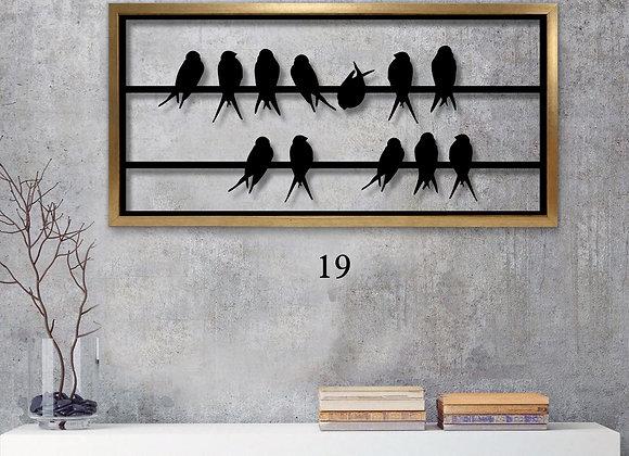 ציפורים שחורים על חוט
