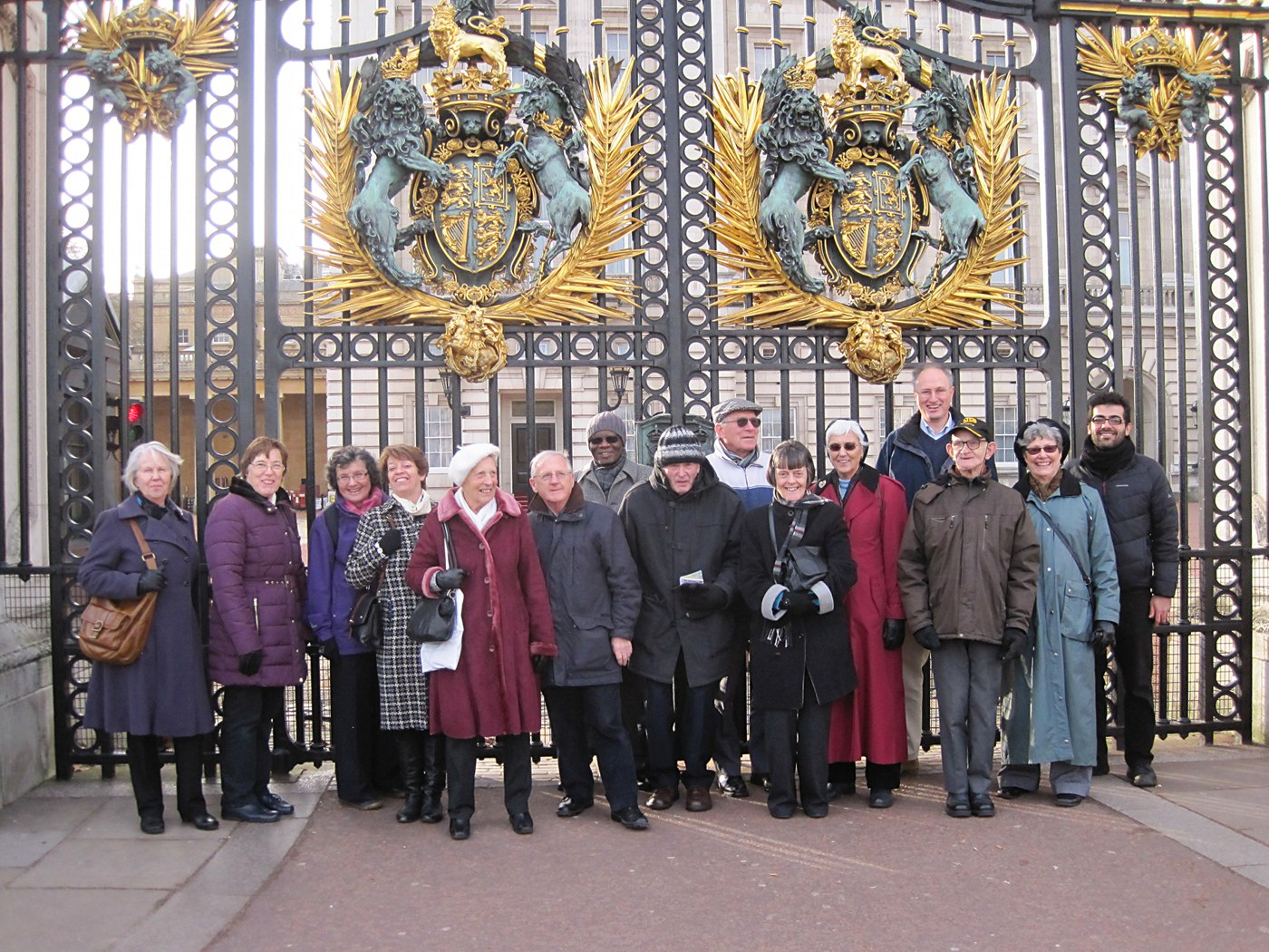 Group outside Buckingham Palace