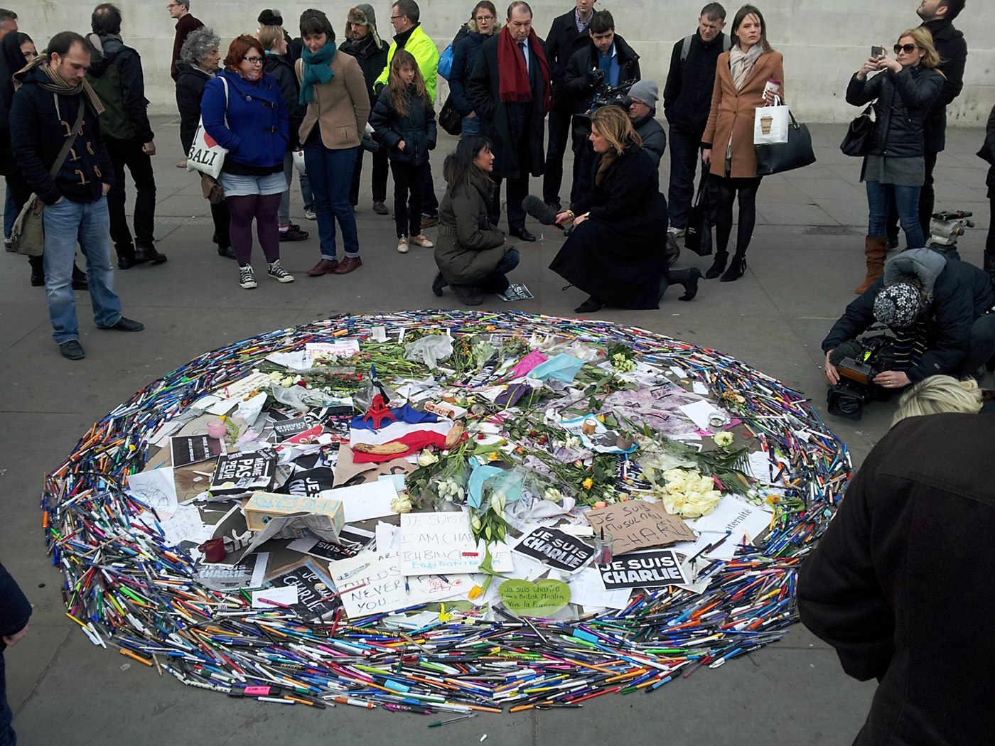 """Je suis Charlie"" - Trafalgar Square"