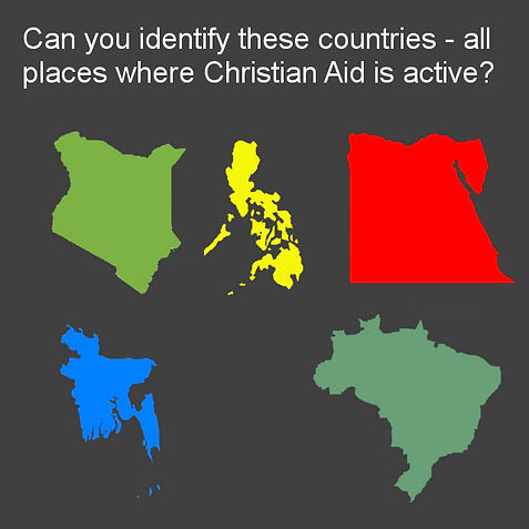 Countries where Christian Aid is working