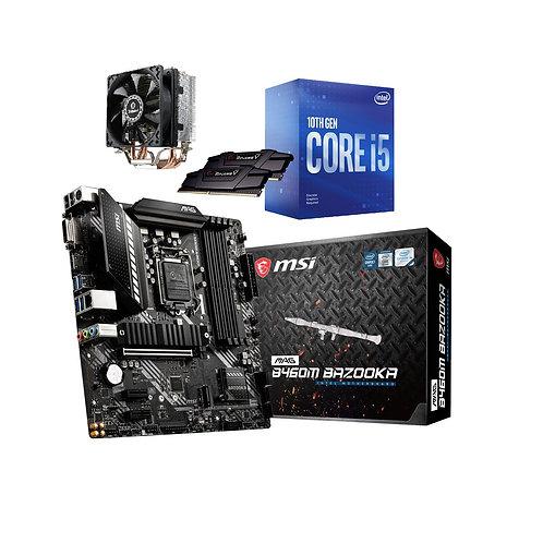 Pack carte mère AM4 + CPU AMD RYZEN 3600 x6 de 4,2Ghz + Radiateur + 8Go 2666