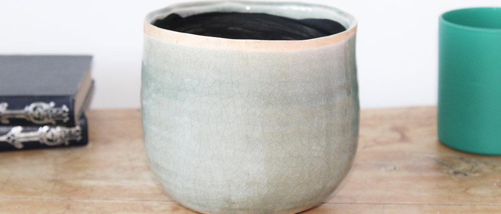 Iris Glazed Pot