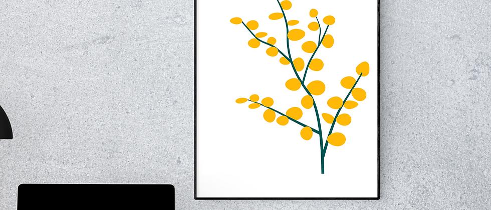 Leaves Yellow Print