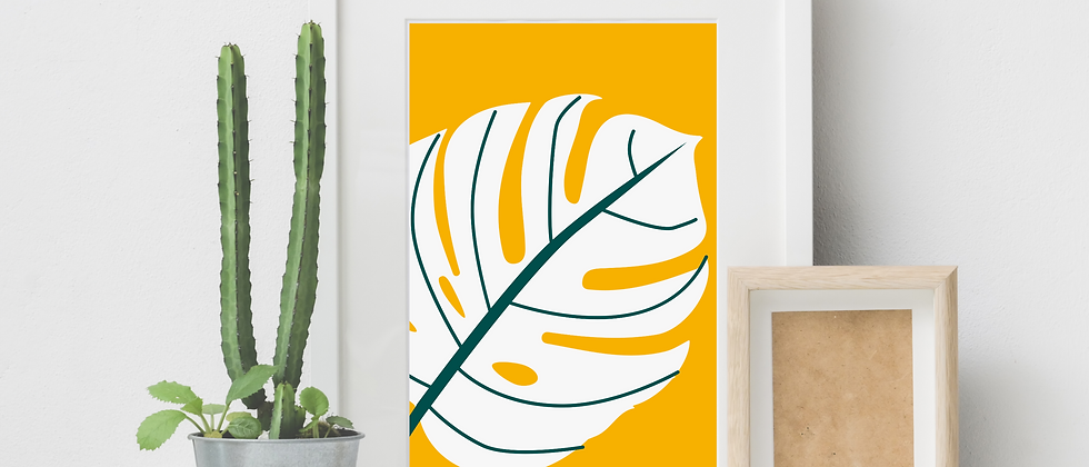 Monstera White Print