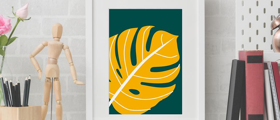 Monstera Yellow Print