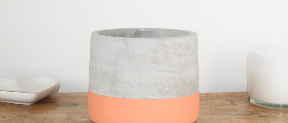 Colour Dip Concrete Pot