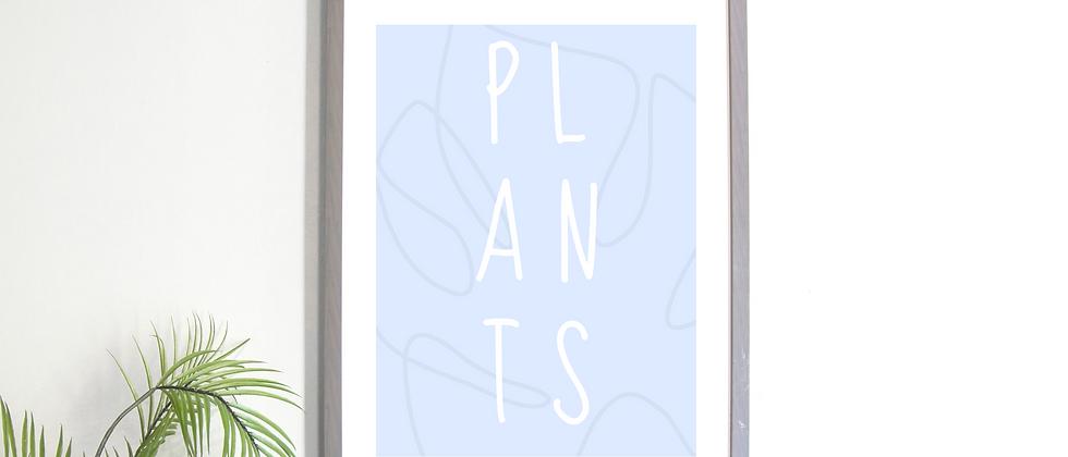 Plants Blue Print