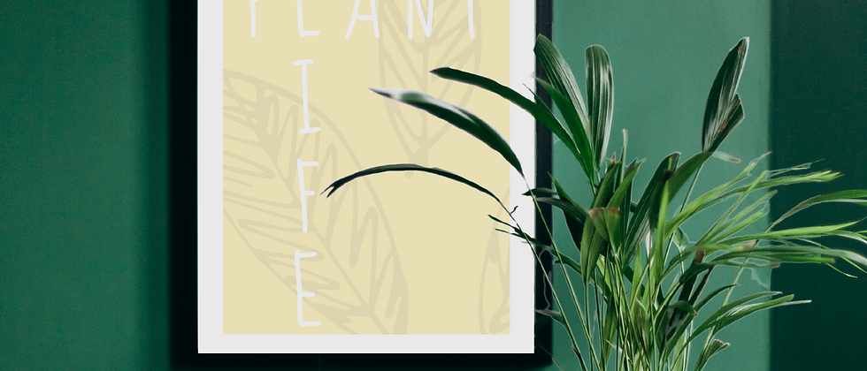 Plant Life Yellow Print