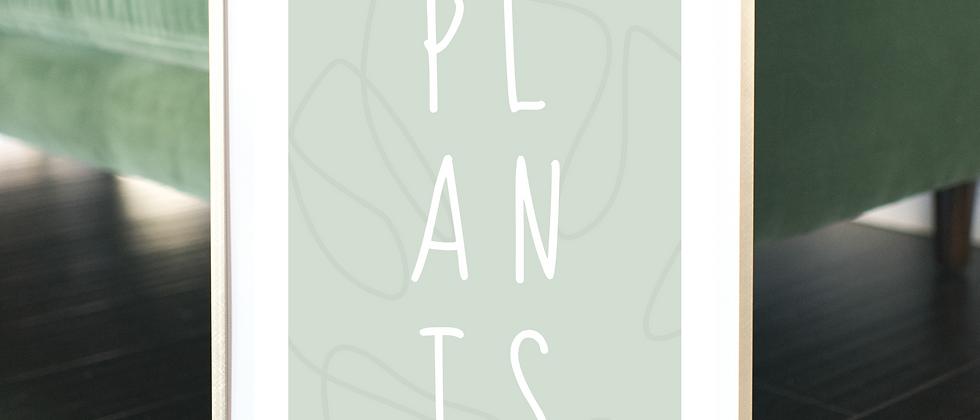 Plants Green Print