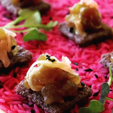 Ahi Poke | Wasabi Aioli, Black Rice Cracker