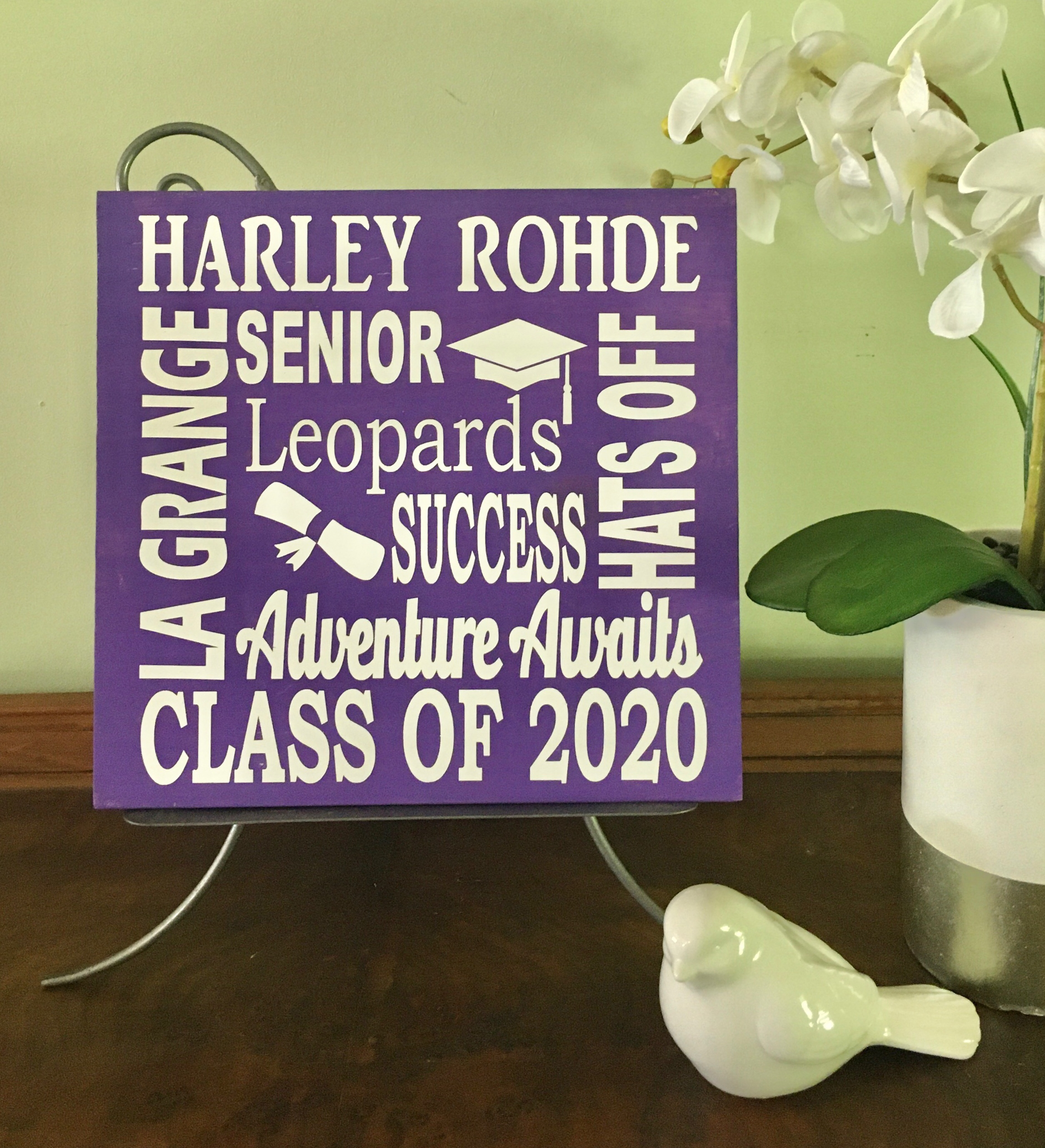 Custom graduation sign