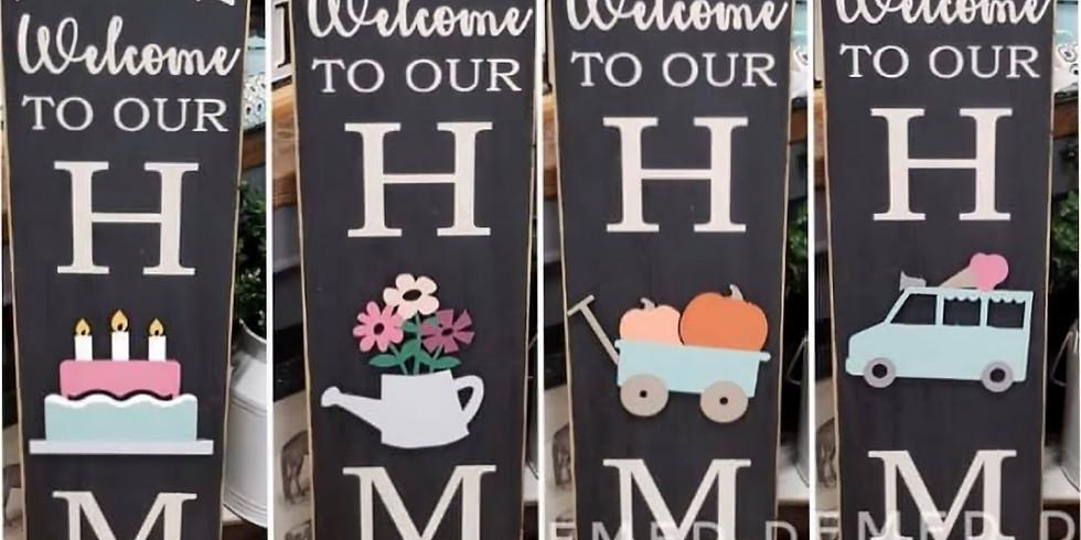 Home interchangeable porch sign