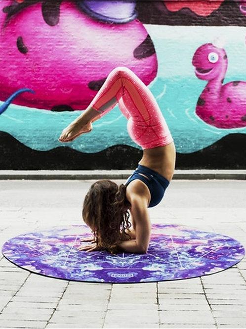 Thảm yoga tròn đường kính 140cm in hoa văn mandala