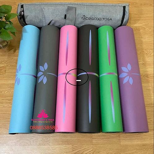 Thảm tập yoga cao cấp Nicegood họa tiết in cầu vồng , kèm túi đựng