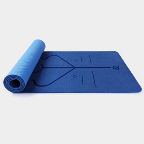 Thảm tập yoga định tuyến TPE 6mm 2 lớp tặng kèm túi lưới
